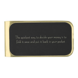 Double Your Money | Funny Wise Quote Money Clip