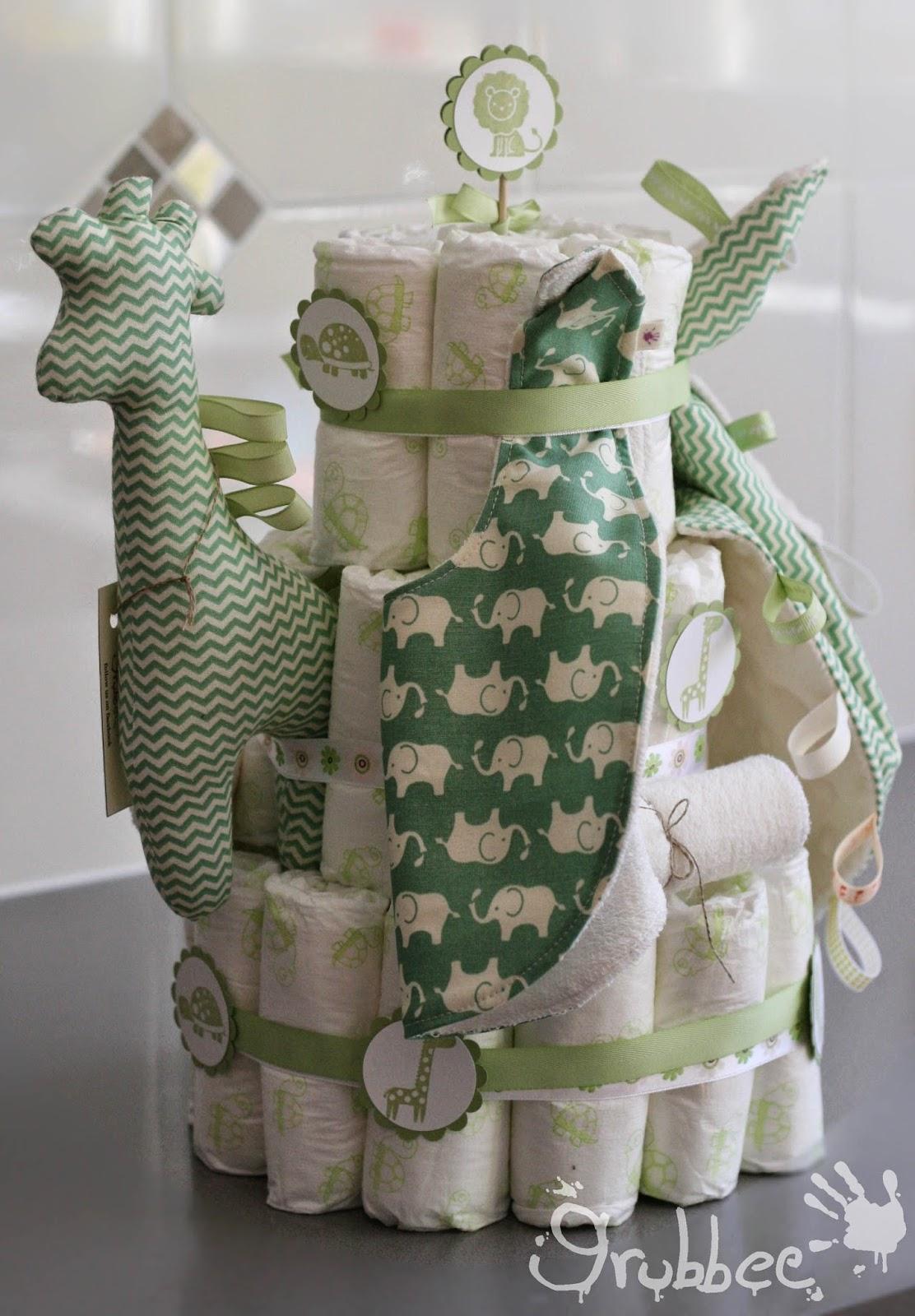 nappy cake giraffe