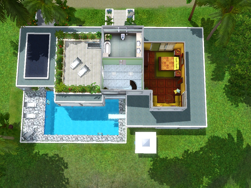 Las mat porque eran m as casa moderna sobre acantilado for Planos casas sims