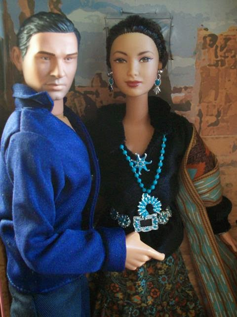 Dragon Ben Yahzee (Adam Beach) and Mattel Barbie Princess of the Navajo
