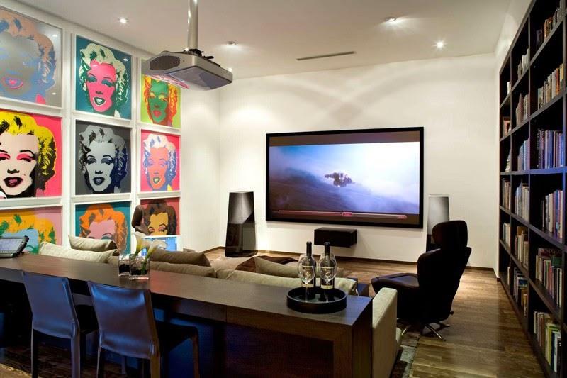 24th street residence steven kent architects santa - Sala cine en casa ...