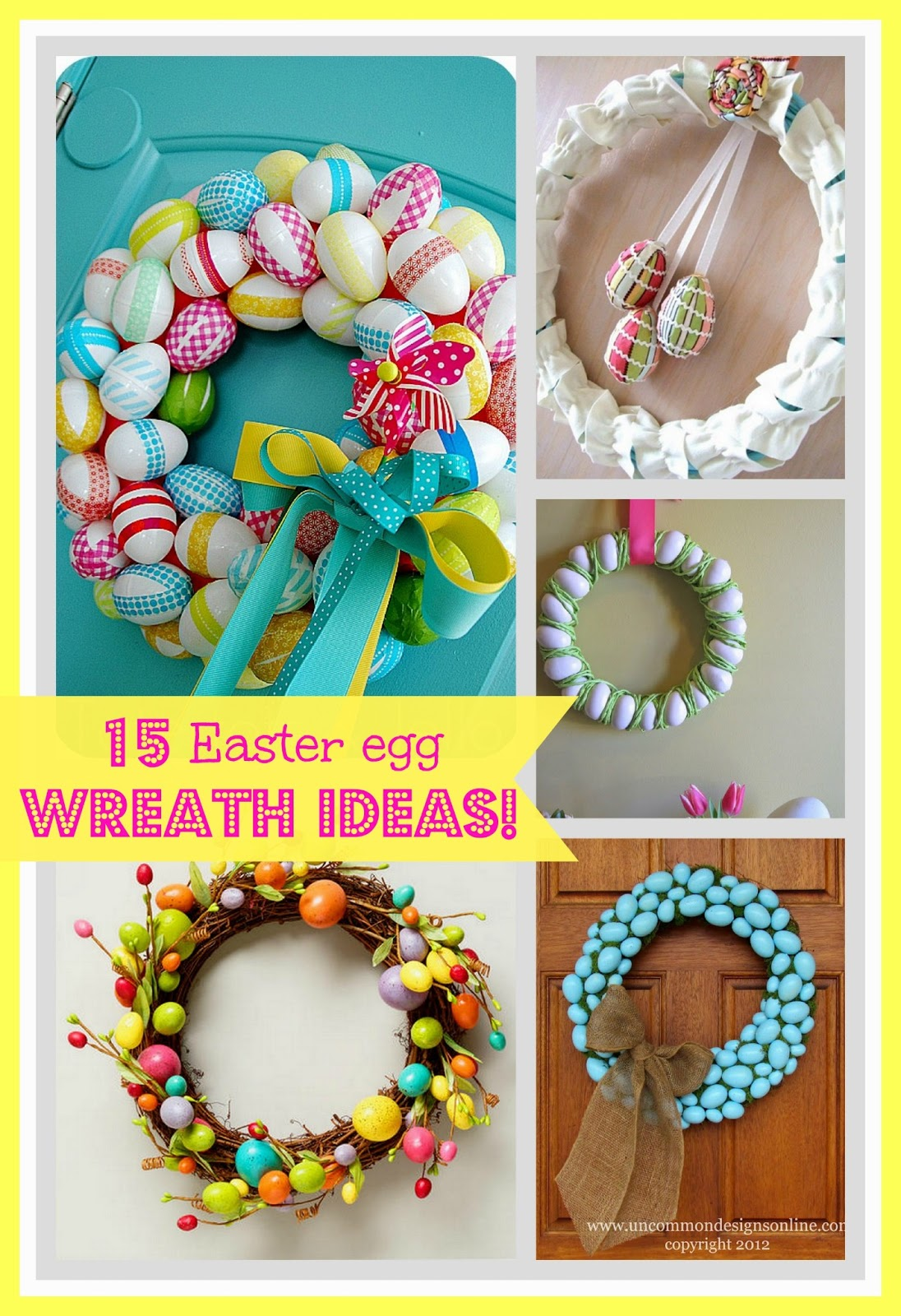 15 Easter Egg Wreath Ideas