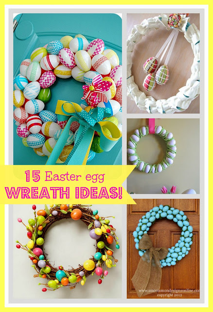 Easter egg wreaths www.craft-o-maniac.com