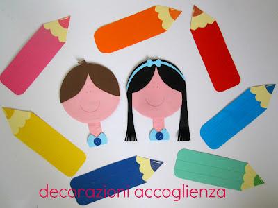 Decorandaeisuoilabirinti decorazioni accoglienza for Addobbi scuola infanzia