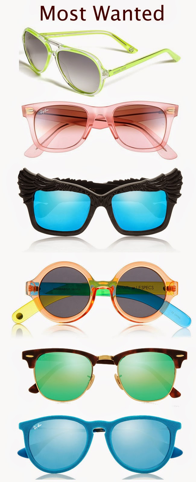 colorful sunglasses for spring