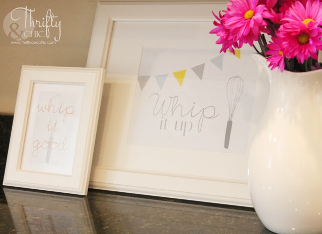 Free Kitchen Art Printables via Thrifty and Chic
