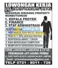 Karir Kerja PT. Bumi Harum Jaya