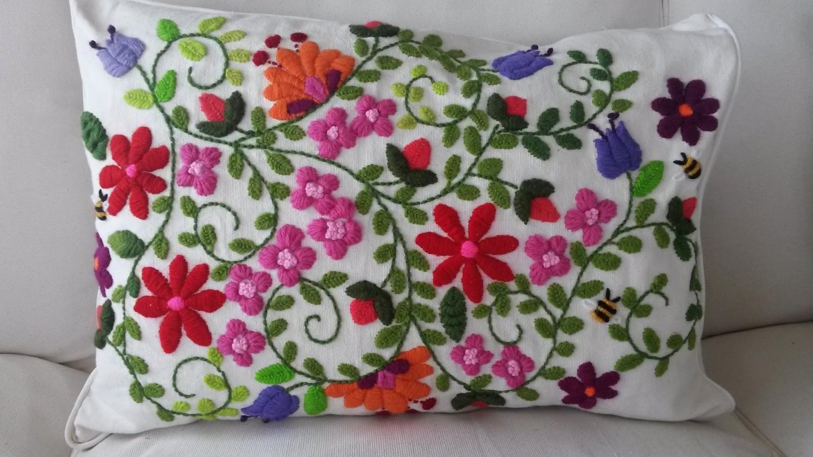 Cecilia koppmann bordado con lana for Como hacer alfombras en bordado chino