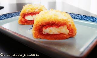 Rollitos de sobrasada y queso