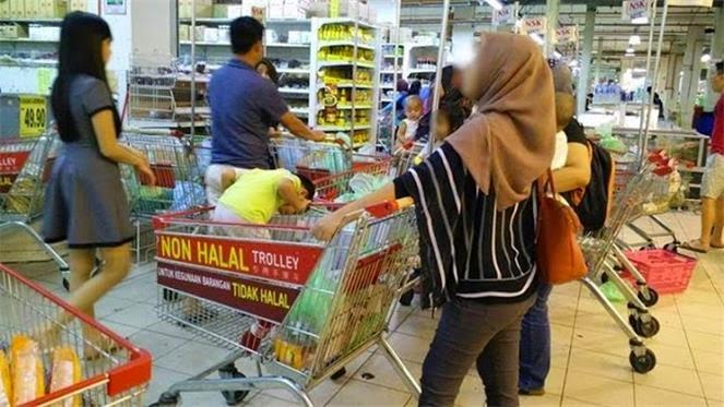 Wanita Ini Dikecam Sebab Guna Troli Logo Tak Halal