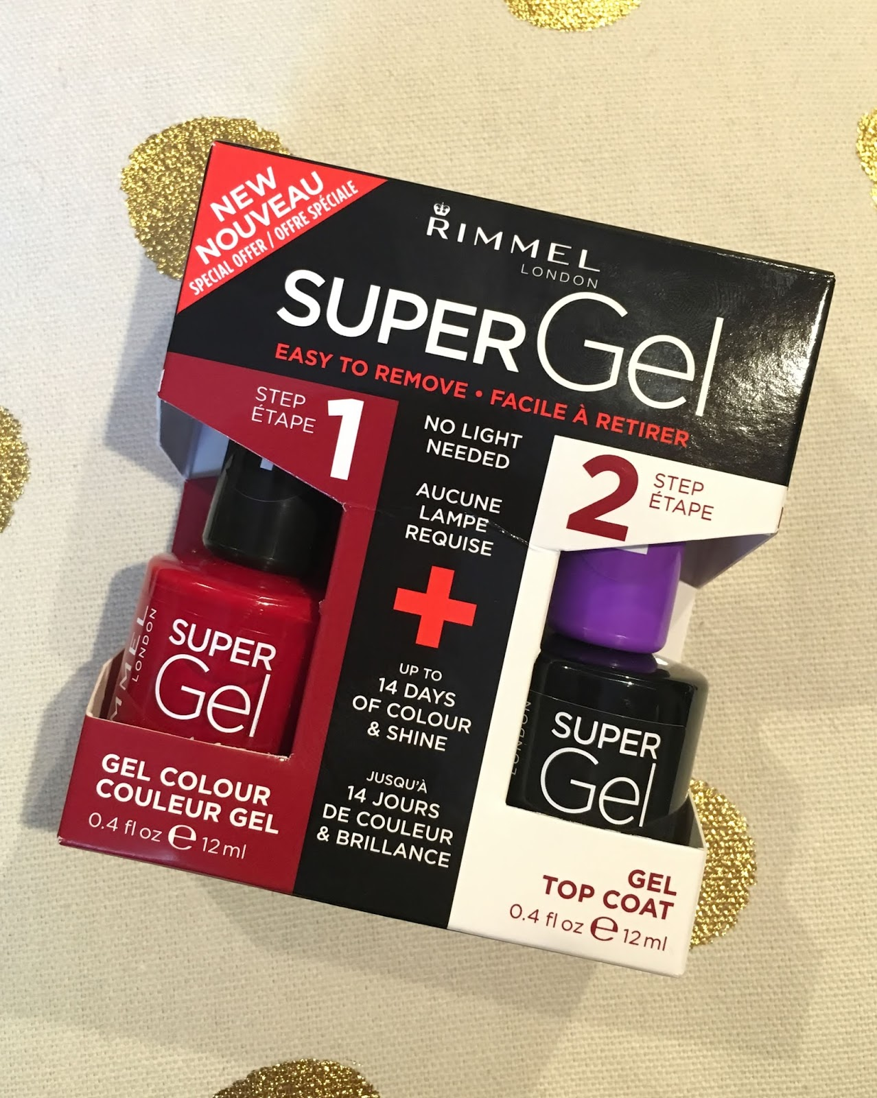 I was recently sent a Rimmel Super Gel duo pack* comprising gel nail colour and gel top coat, and I honestly couldn't be happier with the shade I got.