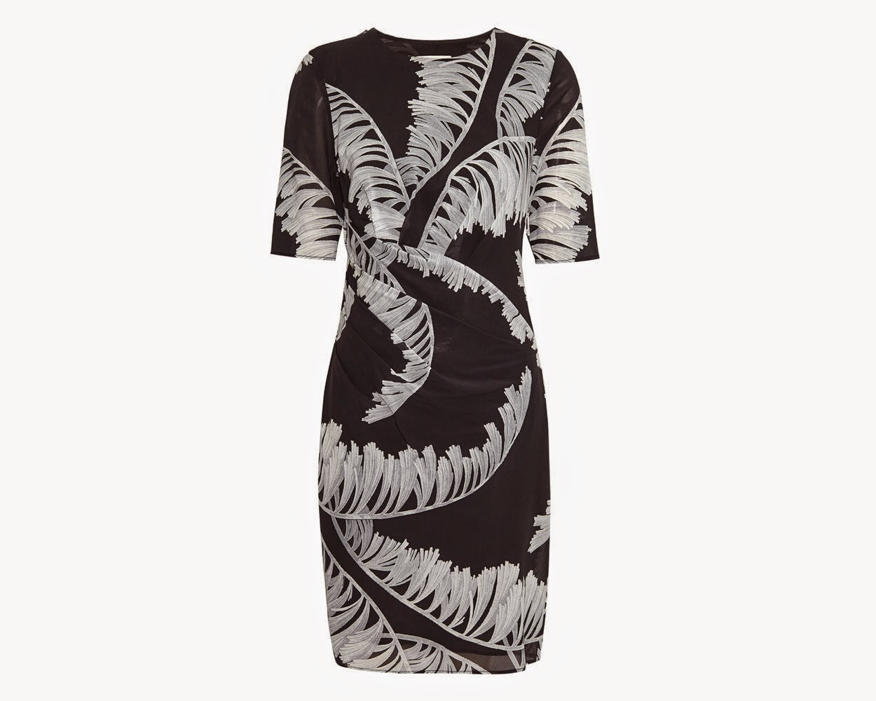 whistles black palm dress