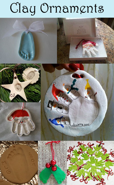 Clay Handprint &amp; Footprint Ornament Keepsakes