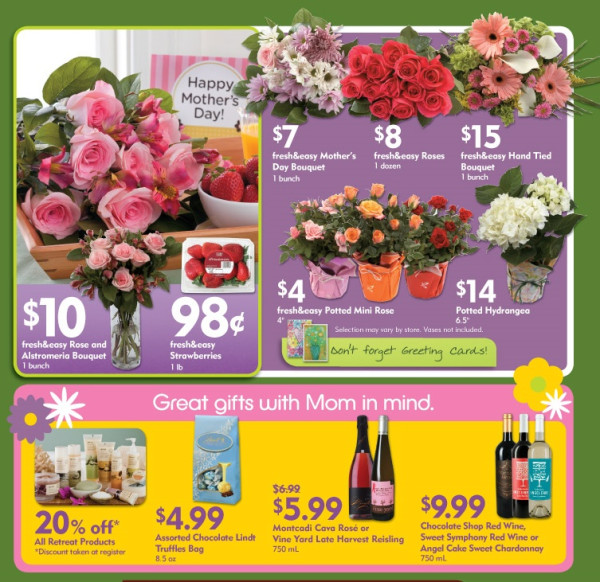 Fresh & Easy Buzz: Will Plants and Flowers For Mother\'s Day Help ...