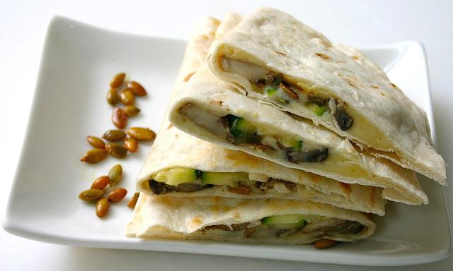 Bake It and Make It with Beth: Zucchini & Mushroom Quesadillas with ...