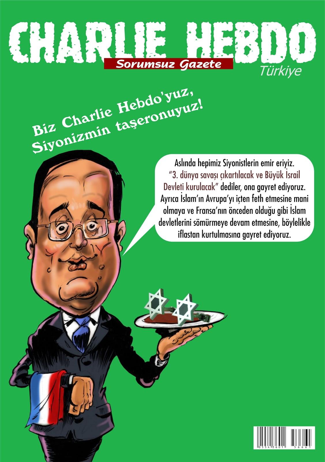"""Charlie Hebdo Türkiye'nin ilk sayısı """"Madem sanat dediniz..."""" söylemi ile çıktı."""