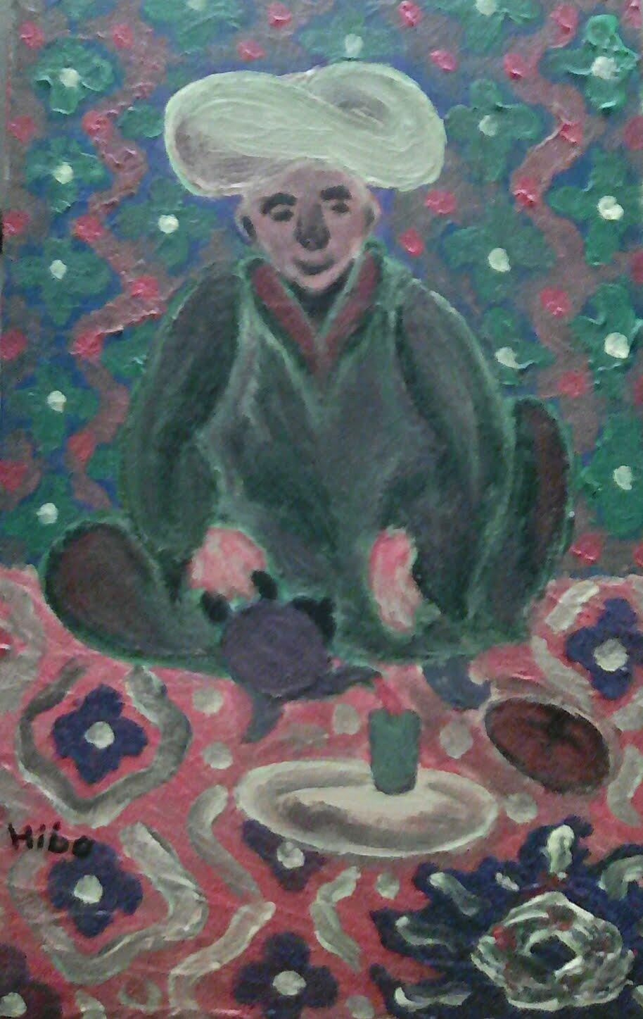A painting entitled Bread and Tea .. for sale/لوحة فنية بعنوان الخبز و الشاي .. للبيع