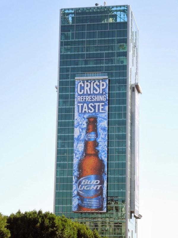 Giant Bud Light billboard Sunset Vine