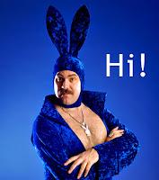 blue bunny man