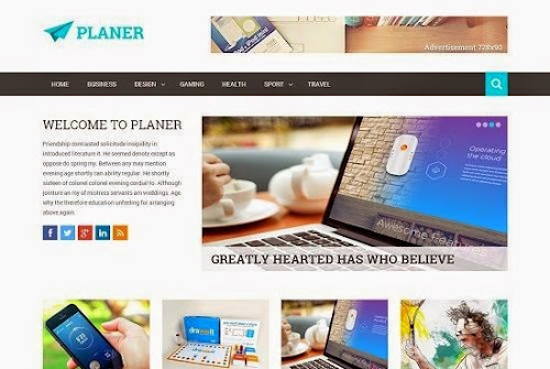 Template Planer Para Blog de Noticias