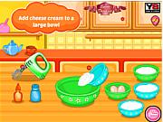 Bánh pho mai dâu, chơi game làm bánh hay tại gamevui.biz