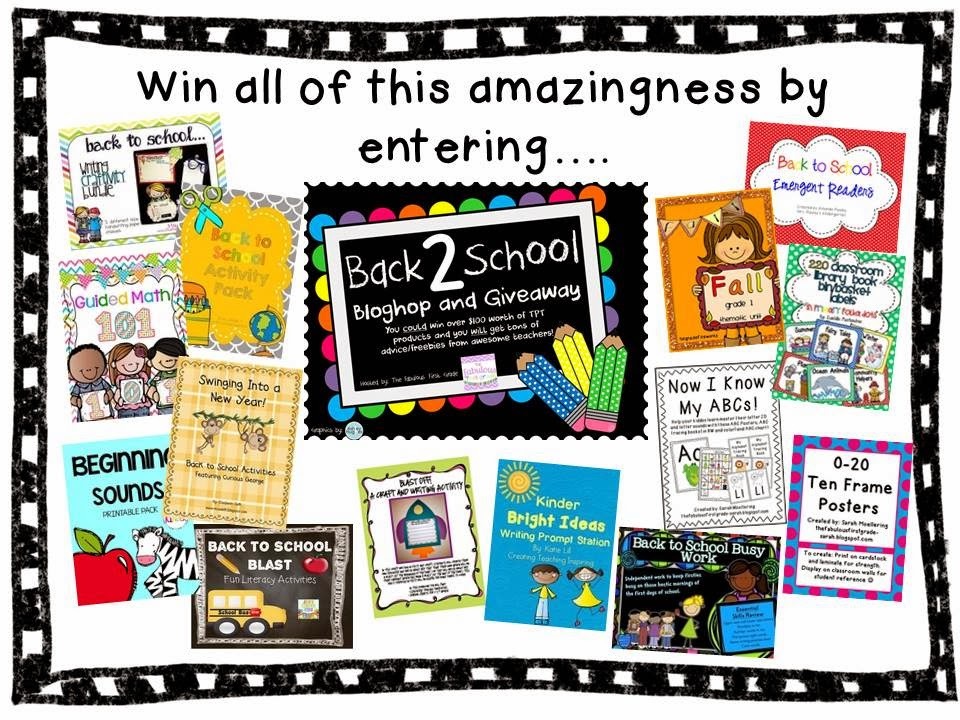 http://thefabulousfirstgrade-sarah.blogspot.com/2014/08/its-here-back-2-school-bloghop-and.html