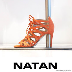 Queen Maxima Style NATAN Sandals and NATAN Dress