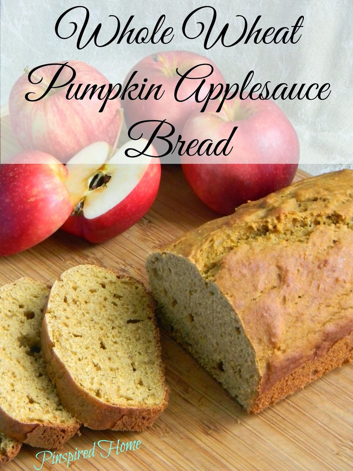 http://pinspiredhome.blogspot.com/2014/09/whole-wheat-pumpkin-applesauce-bread.html