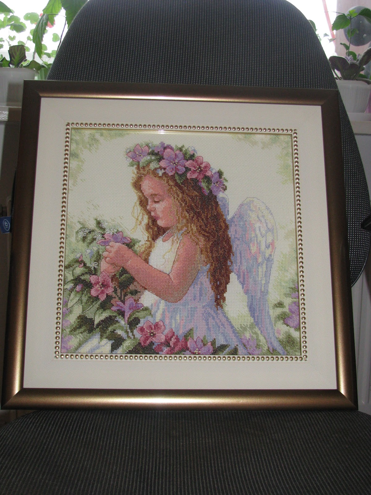 Ангелы вышивка фото готовых работ