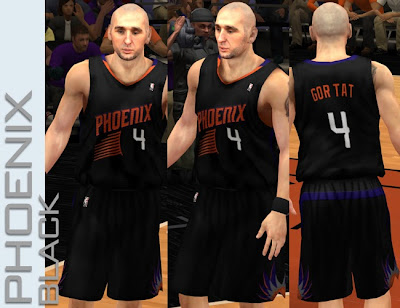 NBA 2K13 Phoenix Suns Fictional Black Jersey Mod
