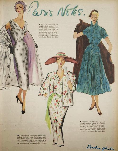 1950s Paris fashions