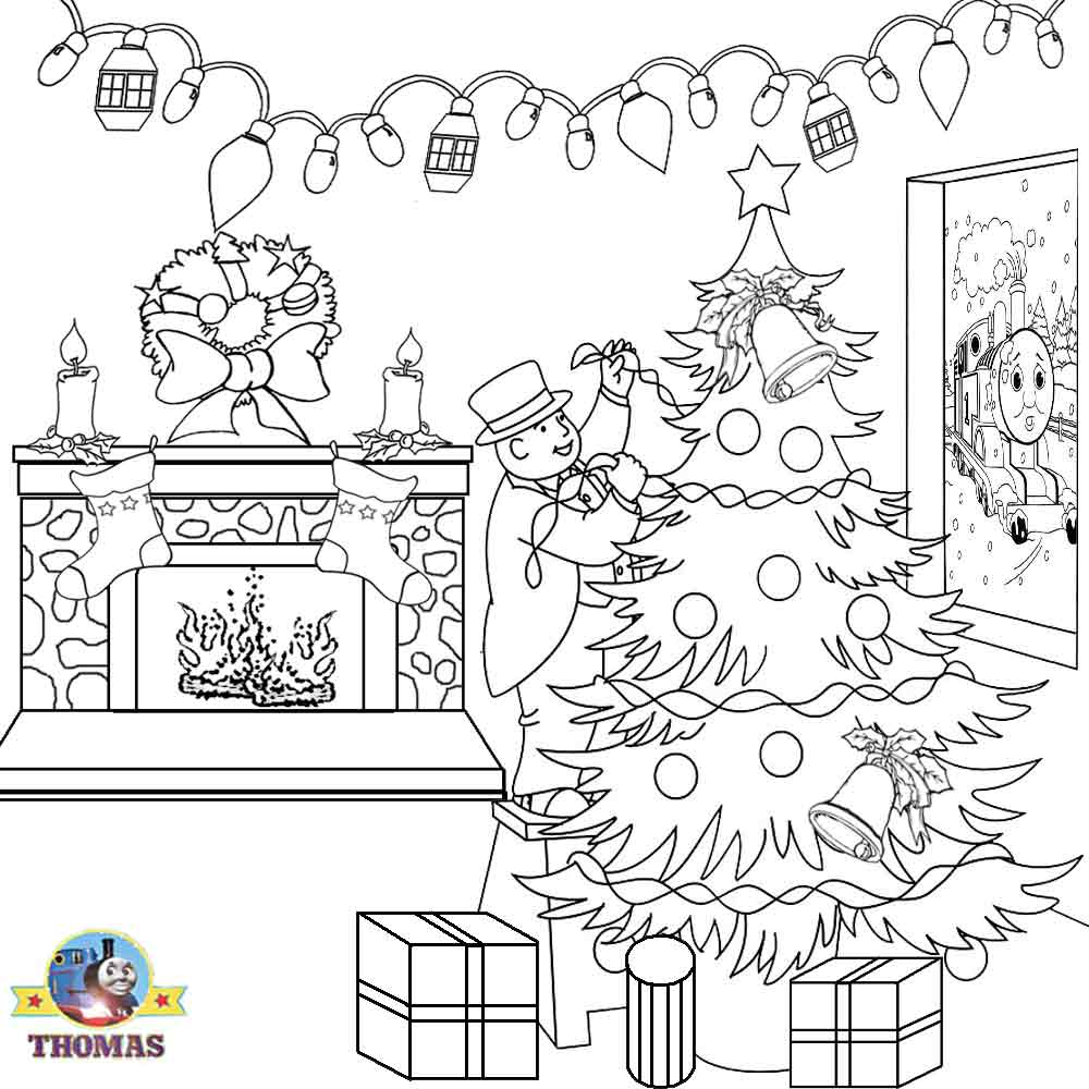 Thomas Christmas Coloring Sheets