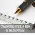 Cara Membuat Posting Artikel Baru di Blog