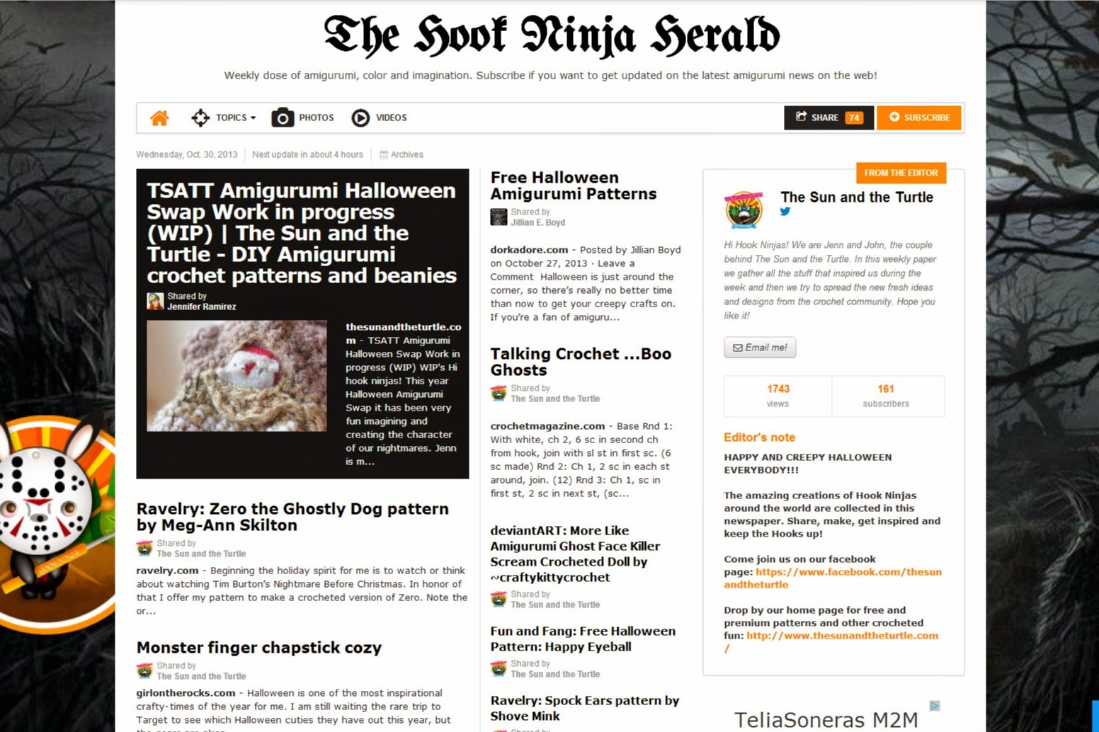 the hook ninja herald amigurumi pattern online newspaper the hook ninja herald is a weekly online newspaper about amigurumis and crochet curated by the