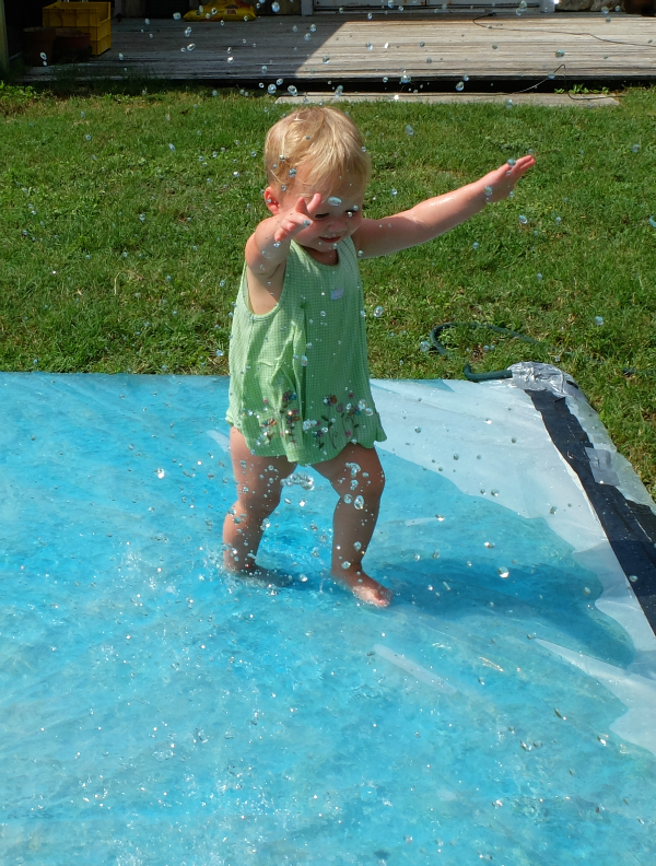 summer time water play