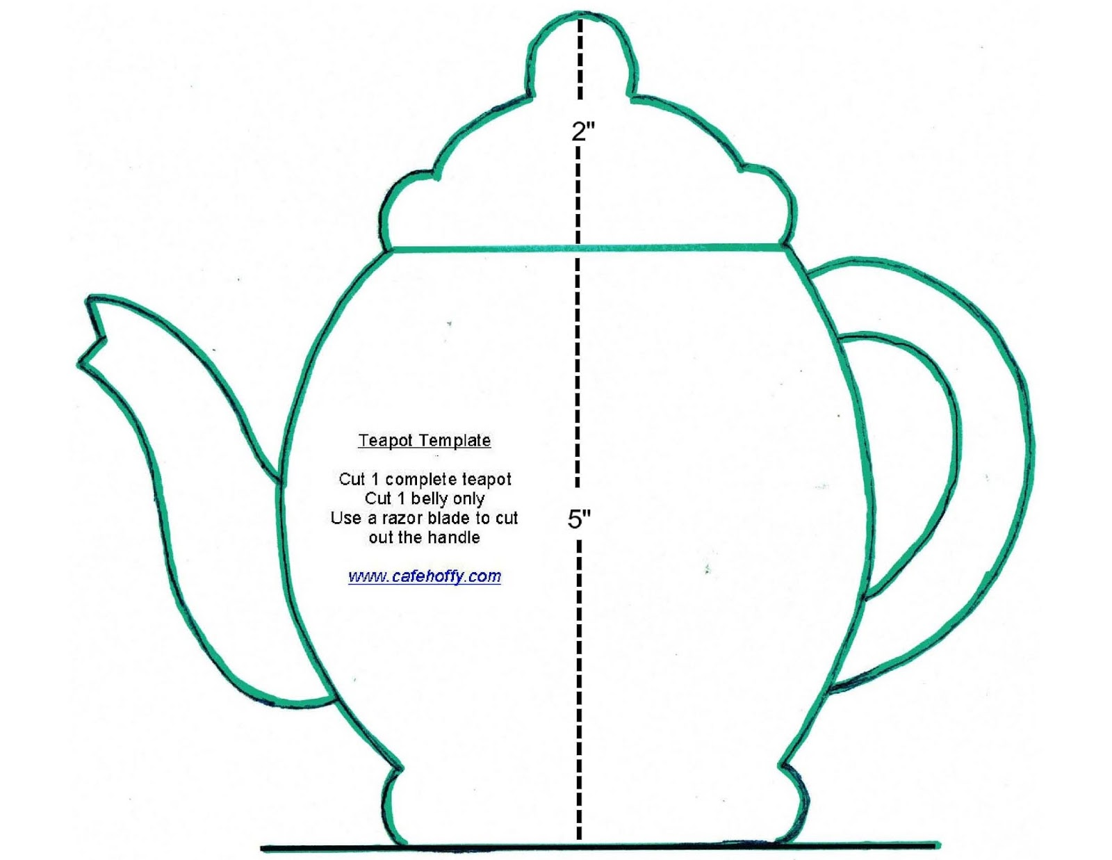 Teapot template