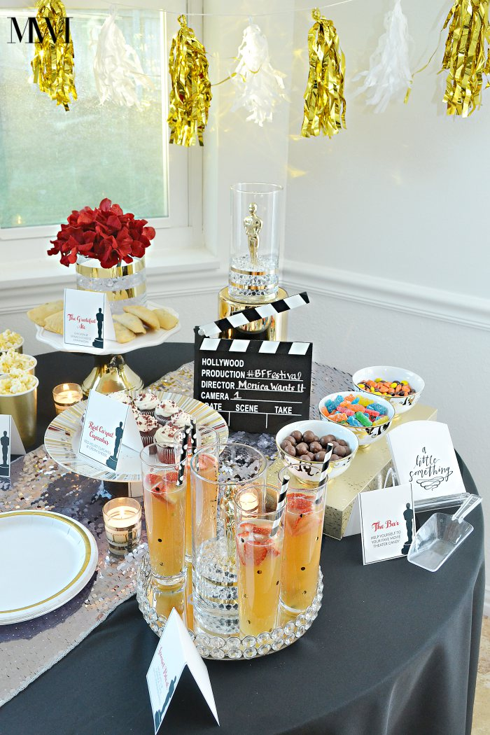 Movie awards show party ideas recipes monica wants it