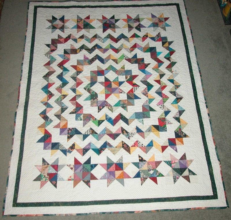Madans Quilting Scrappy Carpenters Star Pattern