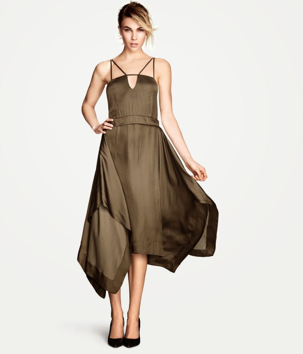 saten+elbise+modelleri H & M 2014 Sommer Kleidung Models