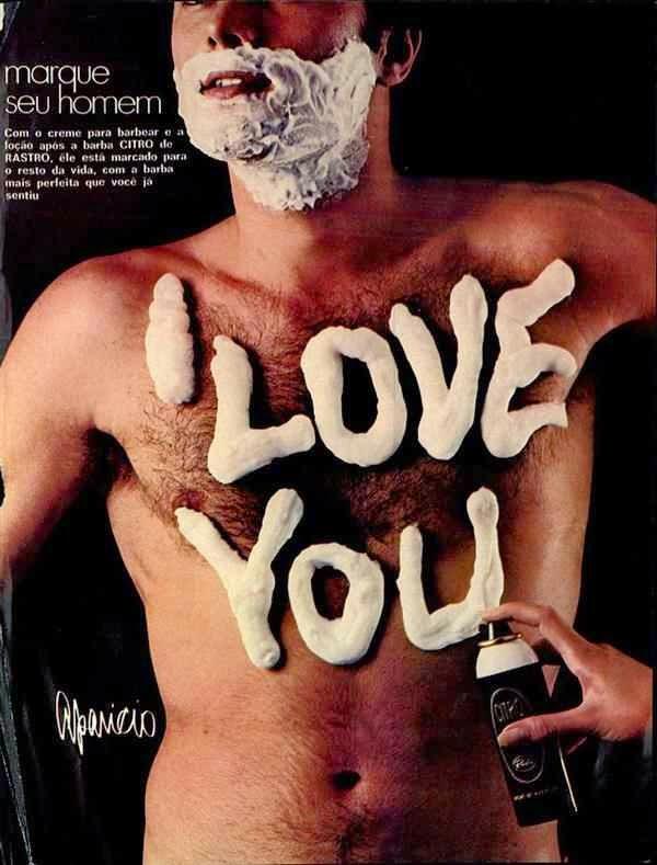Propaganda do Creme para Barbear da Rastro. Lição para 'marcar' o seu homem.