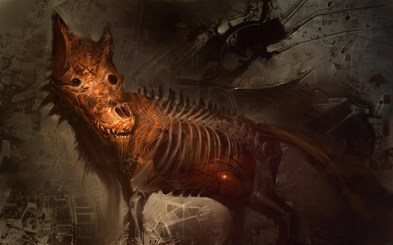 Werewolf Dark Gothic Wallpaper