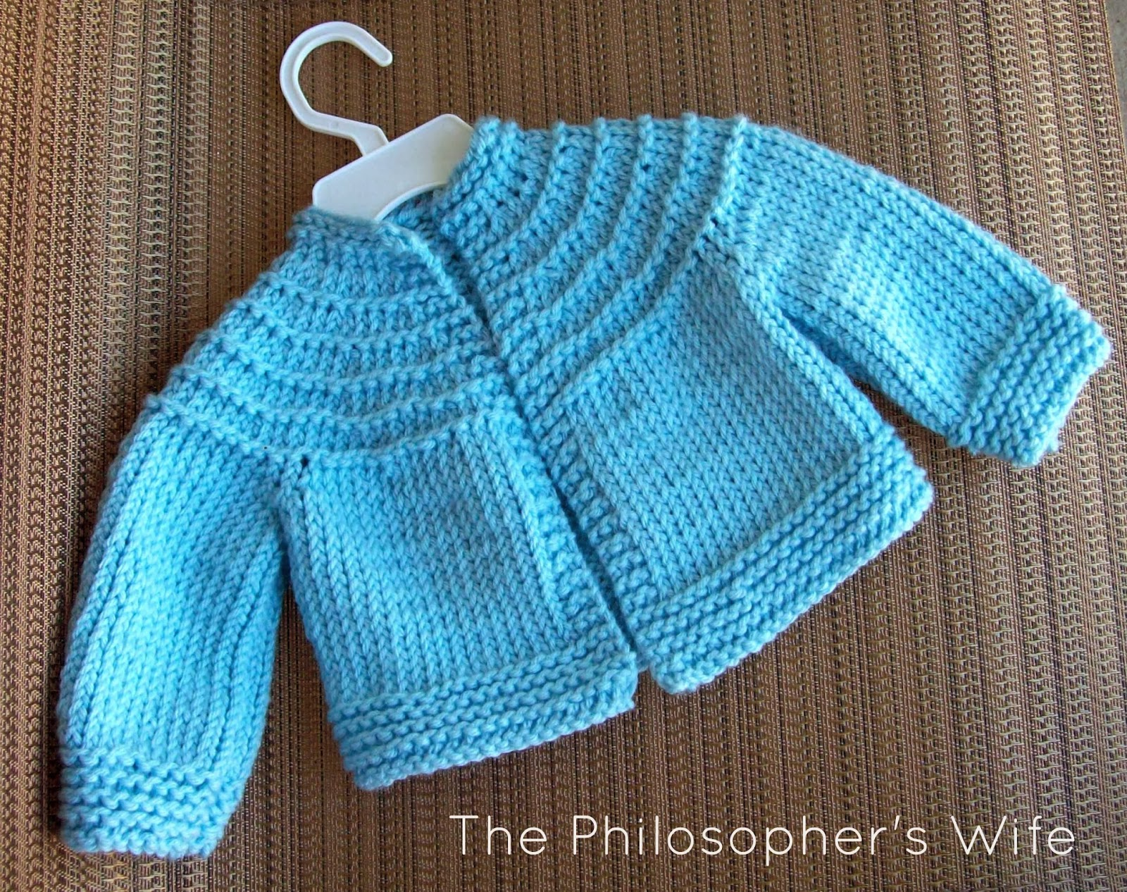 One Piece Sweater Knitting Pattern : Knit Baby Sweater Pattern One Piece - Long Sweater Jacket