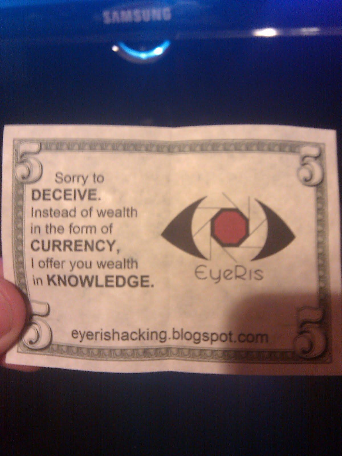 Eyeris Hacking The Dollar Business Card Ultimate advertising