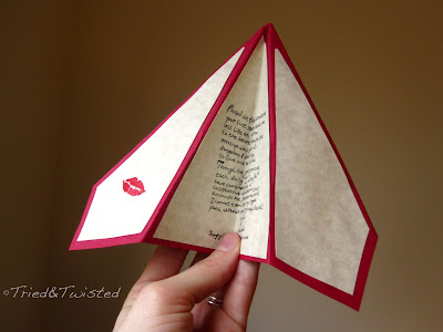 Paper Airplane Love Note via Tried & Twisted blogspot