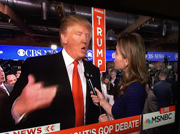 Donald Trump Talks About Debate in the Spin Room