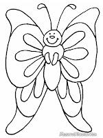 ... Gambar akan membagikan sejumlah gambar mewarnai kupu-kupu untuk anak