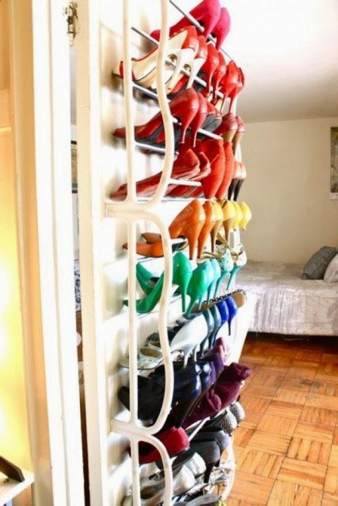 Tu organizas sapatos organizados for Reciclado de placares
