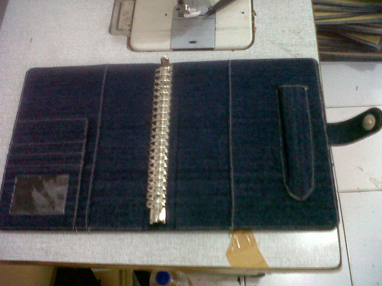 cover agenda bahan jeans 2