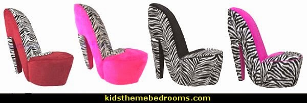 Beau Zebra High Heel Shoe Chairs · Kingdom ...
