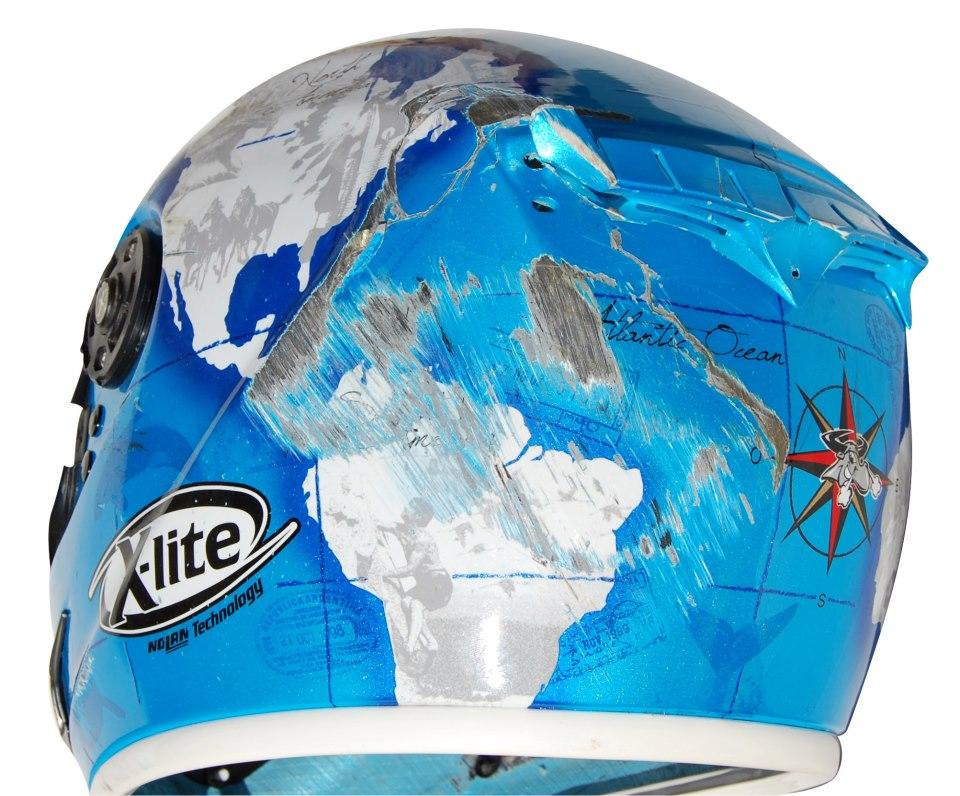 racing helmets garage x lite x 802r c checa wrecked. Black Bedroom Furniture Sets. Home Design Ideas